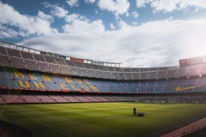 Clean stadium